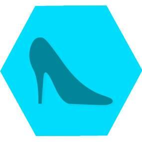 Gen moda beleza blue hexago
