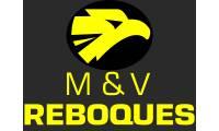 Logo de M & V Auto Reboques E Transporte Rodoviário em Prata