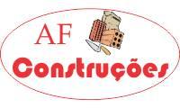 Logo de A F Construções em Mustardinha