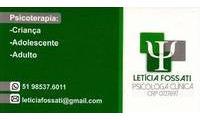 Logo Letícia Fossati - Psicóloga em Cavalhada