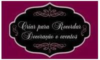 Logo de Criar para Recordar Decorações E Eventos em Buritizal