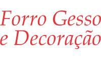 Logo de Forro Gesso E Decoração em Santo Antônio