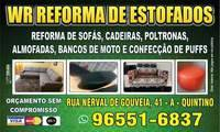 Logo WR Reformas e Higienização de Estofados em Cascadura