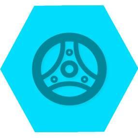 Gen carros veiculos blue hexago