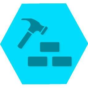 Gen construcao blue hexago