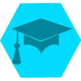 Gen cursos blue hexago
