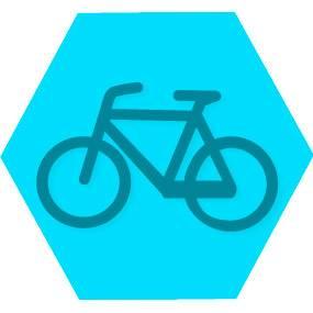 Gen lazer blue hexago
