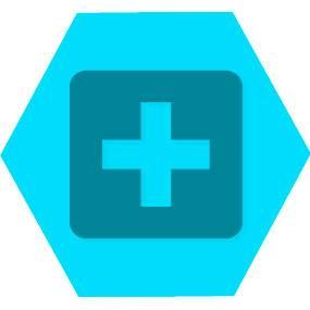 Gen saude blue hexago