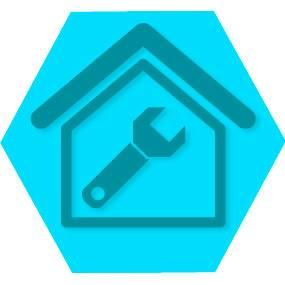 Gen servi para casa blue hexago