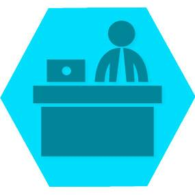 Gen empresa blue hexago